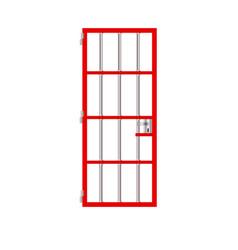 Stock isolated prison red door jail vector