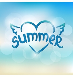 Summer typographic design hand drawn lettering vector