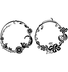 Two black wreath vector image vector image