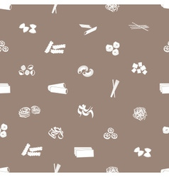 types of pasta food pattern eps10 vector image vector image