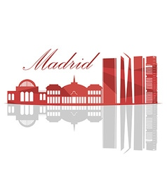 Isolated madrid skyline vector