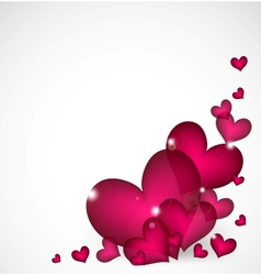 Valentines day background with pink hearts vector