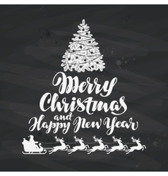 Christmas holiday greetings written on black vector