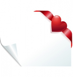 Heart page vector