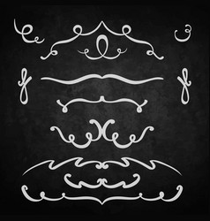 element set of lines vector image