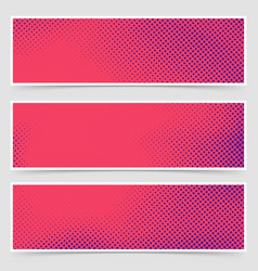 Dotted pop art retro style bright header vector