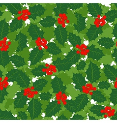Holly leaves background vector