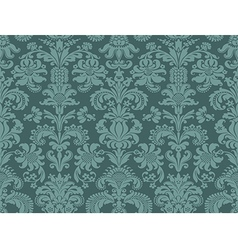 Seamless abstract floral damask background vintage vector image