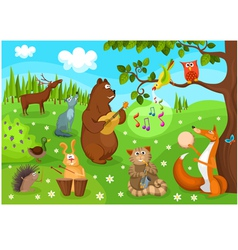 Forest concert vector