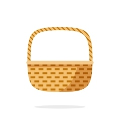 Wicker basket icon symbol isolated on white vector