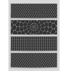A set of four patterns-honeycomb vector image