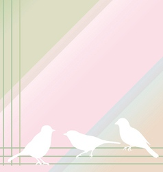 abstract birds on a color background vector image vector image