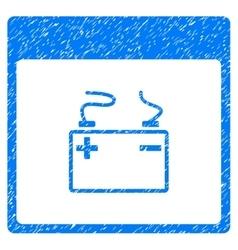 Accumulator calendar page grainy texture icon vector
