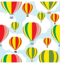 Aerostat balloon over sky Seamless vector image vector image