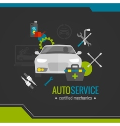 Auto mechanic flat icon vector