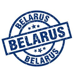 Belarus blue round grunge stamp vector