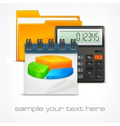 Calculator diagram vector image vector image