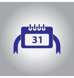 Christmas calendar 31st of vector