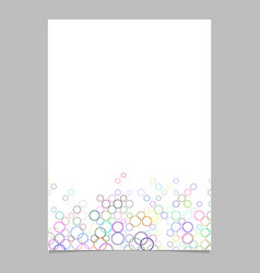 Circle pattern brochure background template - vector