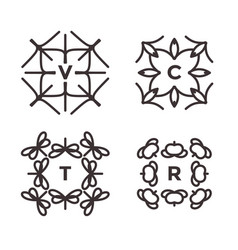 collection of thin icons for logo design linear vector image vector image