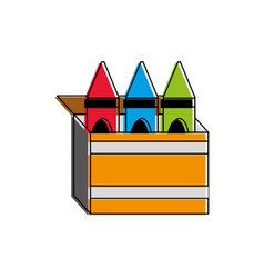 Crayon box design vector