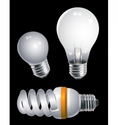 electric bulbs vector image