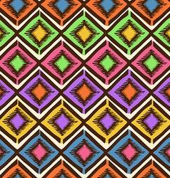 Ethnic tribal geometric seamless pattern vector image vector image