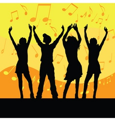 everyone dance vector image