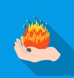Fire spell icon in flate style isolated on white vector