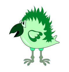 Green crow vector