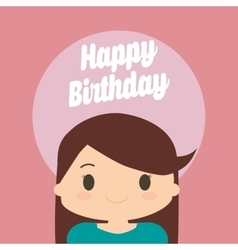 Happy birthday kid cartoon vector image