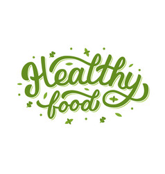 Healthy food hand lettering vector