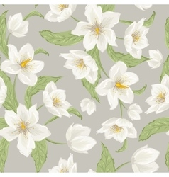 Hellebore flowers Christmas rose seamless pattern vector image vector image
