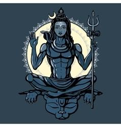 Hindu god Shiva vector image vector image