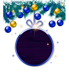 holiday round frame vector image