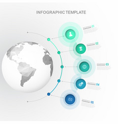 infographic startup milestones time line template vector image vector image