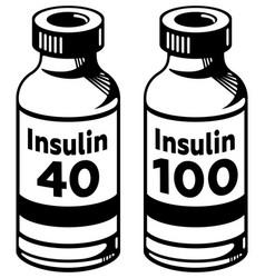 Insulin bottle vector