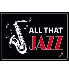 Jazz music poster background template vector