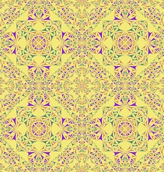 Kaleidoscope inspired floral background vector