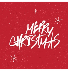 Merry christmas snowflakes lettering vector