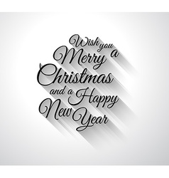 Merry Chrstimas Retro Typography slogan with long vector image