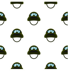 Military metal helmet pattern flat vector