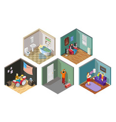 Neighbors relations isometric compositions set vector