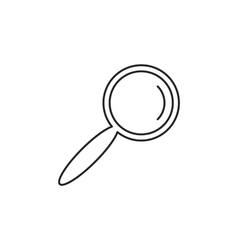 Outline loupe icon vector image