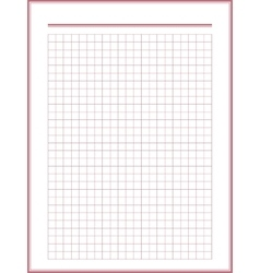 paper sheet with red squares vector image