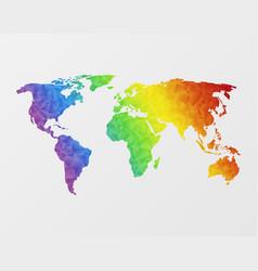 polygonal world map vector image