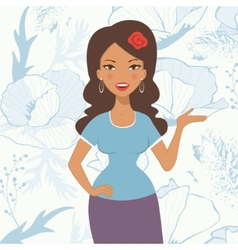 Pretty latin woman vector image vector image