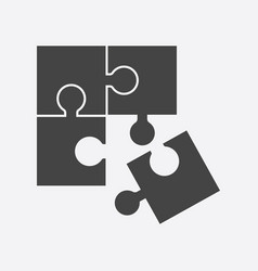 Puzzle icon flat vector