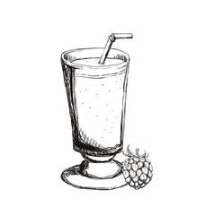 refreshing fruit juice vector image vector image