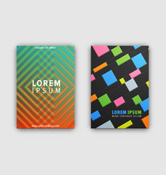 set of two cover patterns on vector image vector image